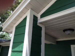 Hardie siding and soffit installation